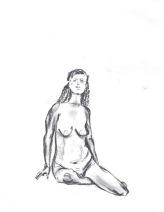 Figure Sitting, 2016, 11.7 x 16.5 in