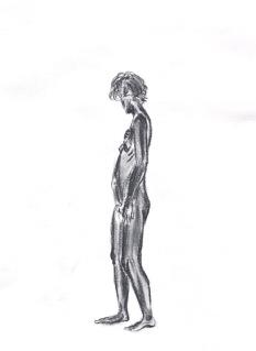 Figure Standing, 2017, 11.7 x 16.5 in